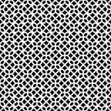 Abstraktes nahtloses dekoratives geometrisches dunkles Schwarz-u. Weiß-Muster Stockfotografie