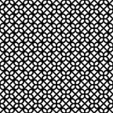 Abstraktes nahtloses dekoratives geometrisches dunkles Schwarz-u. Weiß-Muster Lizenzfreies Stockfoto