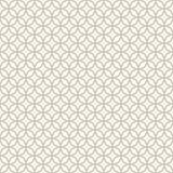 Abstraktes nahtloses dekoratives geometrisches helles Gold u. weißes Muster Stockbilder