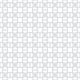 Abstraktes nahtloses dekoratives geometrisches hellgraues u. weißes Muster Stockfotografie