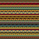 Abstraktes nahtloses ethnisches Muster Stockbild