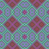 Abstraktes nahtloses geometrisches grün-blaues rosa Muster stock abbildung