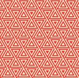 Abstraktes nahtloses geometrisches Muster mit Dreiecken Lizenzfreie Stockfotografie