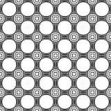 Abstraktes nahtloses geometrisches Muster mit Webartverzierung Einfache lineare gewellte gestreifte Schwarzweiss-Beschaffenheit V vektor abbildung