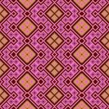 Abstraktes nahtloses geometrisches orange rosa Muster vektor abbildung