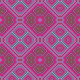 Abstraktes nahtloses geometrisches rosa blaues Muster lizenzfreie abbildung