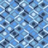 Abstraktes nahtloses gestreiftes Muster mit Sternen Vektor Illustratio Lizenzfreie Stockbilder