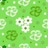 Abstraktes nahtloses grünes mit Blumenmuster Stockfoto