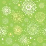 Abstraktes nahtloses grünes vektormuster Stockfotografie