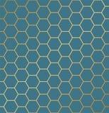 Abstraktes nahtloses Hexagonmuster Wiederholen des Luxushintergrundes lizenzfreie abbildung