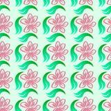 Abstraktes nahtloses mit Blumenmuster Stockbild