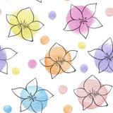 Abstraktes nahtloses mit Blumenmuster vektor abbildung