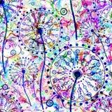 Abstraktes nahtloses mit Blumenmuster Vector Abbildung, EPS10 Stockfoto