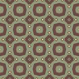 Abstraktes nahtloses Mosaikmuster mit geometrischen Formen Stockbild