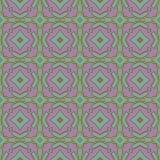 Abstraktes nahtloses Mosaikmuster mit hellen geometrischen Formen Stockbild