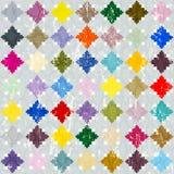 Abstraktes nahtloses Muster Stockfotos