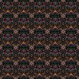 Abstraktes nahtloses Muster auf einem schwarzen Hintergrund Vektor Abbildung