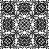 Abstraktes nahtloses Muster in black&white Farbe für endloses backg Lizenzfreies Stockbild