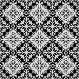 Abstraktes nahtloses Muster in black&white Farbe für endloses backg Lizenzfreie Stockbilder