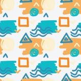Abstraktes nahtloses Muster Bunter dekorativer Hintergrund Lizenzfreies Stockbild