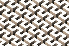 Abstraktes nahtloses Muster 3D Lizenzfreie Stockbilder