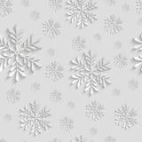 Abstraktes nahtloses Muster 3d mit Schneeflocken Lizenzfreies Stockfoto