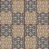 Abstraktes nahtloses Muster in der ägyptischen Art Stockbilder