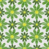 Abstraktes nahtloses Muster der Blumen Lizenzfreie Stockfotografie