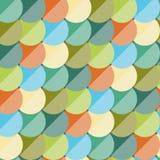Abstraktes nahtloses Muster der Weinlese flach Lizenzfreies Stockfoto