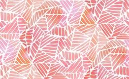 Abstraktes nahtloses Muster des Aquarells Stockbilder