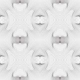 Abstraktes nahtloses Muster des Kräuselns von Formen Die Illusion der Verzerrung des Raumes und der Bewegung der Linien vektor abbildung