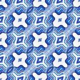 Abstraktes nahtloses Muster des Kräuselns von Formen Die Illusion der Verzerrung des Raumes und der Bewegung der Linien stock abbildung