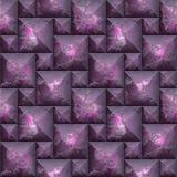 Abstraktes nahtloses Muster des Mosaiks 3d des Rosas und der purpurroten abgeschrägten Blöcke Lizenzfreie Stockfotos