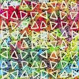 Abstraktes nahtloses Muster Dreiecke und Schmutzbeschaffenheit vektor abbildung