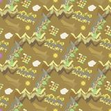 Abstraktes nahtloses Muster für Mädchen, Jungen, Kleidung Kreativer Hintergrund mit Punkten, geometrische Zahlen lustige Tapete f lizenzfreies stockbild