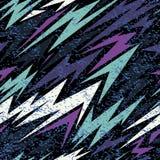 Abstraktes nahtloses Muster für Mädchen, Jungen, Kleidung Kreativer Hintergrund mit Punkten, geometrische Zahlen lustige Tapete f lizenzfreie stockfotografie
