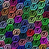 Abstraktes nahtloses Muster gemacht von den bunten Elementen Stockbild