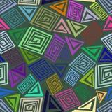 Abstraktes nahtloses Muster gemacht von den bunten Elementen Stockbilder