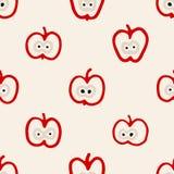 Abstraktes nahtloses Muster mit Äpfeln lizenzfreie abbildung