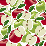 Abstraktes nahtloses Muster mit Äpfeln Lizenzfreie Stockfotografie