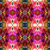Abstraktes nahtloses Muster mit überlagerten stilisierten exotischen Blumen Stockbild