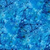 Abstraktes nahtloses Muster mit blauen Aquarellstellen Lizenzfreie Stockfotos