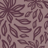 Abstraktes nahtloses Muster mit Blumen vektor abbildung