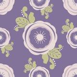Abstraktes nahtloses Muster mit Blumen Lizenzfreie Stockfotos