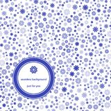 Abstraktes nahtloses Muster mit Blumenhintergrundblau und -WEISS vektor abbildung