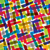 Abstraktes nahtloses Muster mit bunten Elementen Stockbild