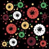 Abstraktes nahtloses Muster mit den stilisierten Formen. lizenzfreie abbildung