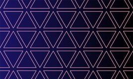 Abstraktes nahtloses Muster mit Dreiecken unterzeichnen Grenzanschlaghintergrund Vektorabbildung ENV-10 lizenzfreie abbildung