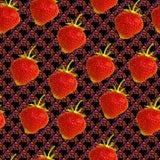 Abstraktes nahtloses Muster mit Erdbeere stock abbildung