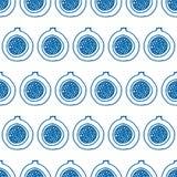 Abstraktes nahtloses Muster mit exotischen Früchten lizenzfreie abbildung